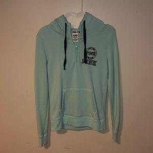 VS half zip mint hoodie size XS